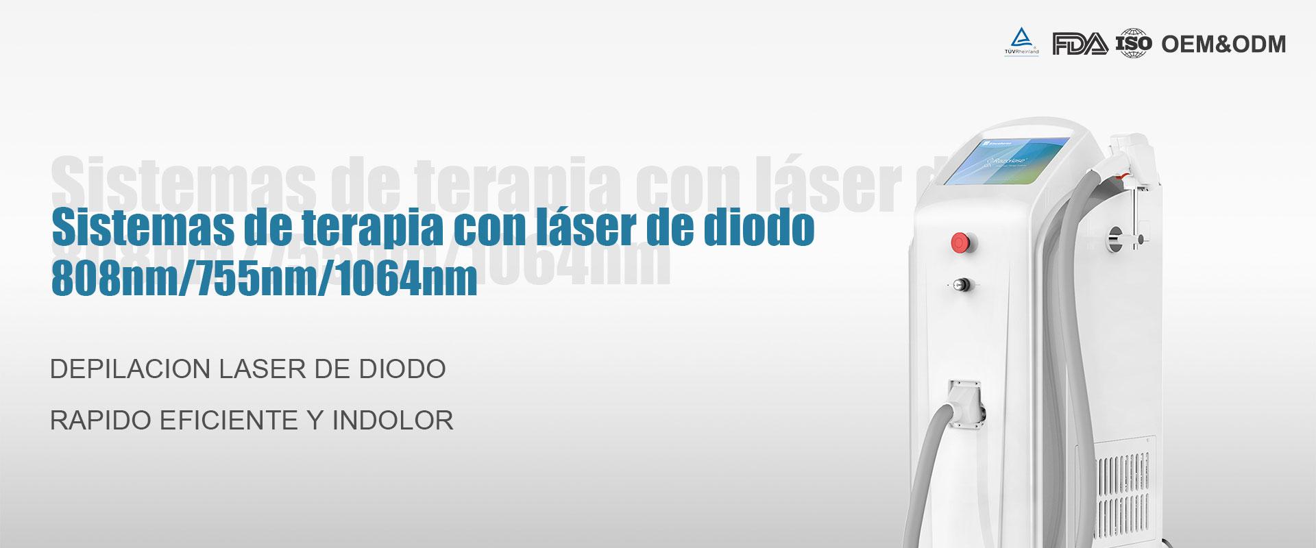 Depilación láser de diodo